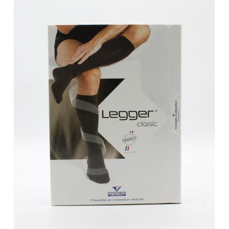 Legger Classic Chaussettes de Compression Médicale T2 Long Noir