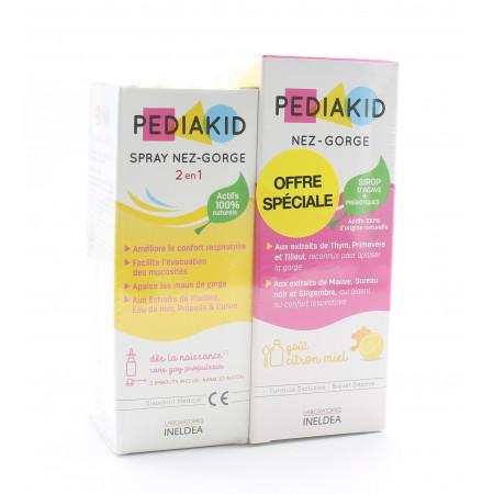 Pediakid Lot Nez-gorge 125ml + Spray Nez-gorge 20ml