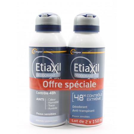 Etiaxil Déodorant Men Contrôle 48h 2X150ml