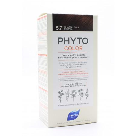 Phyto Color Kit Coloration Permanente 5.7 Châtain...