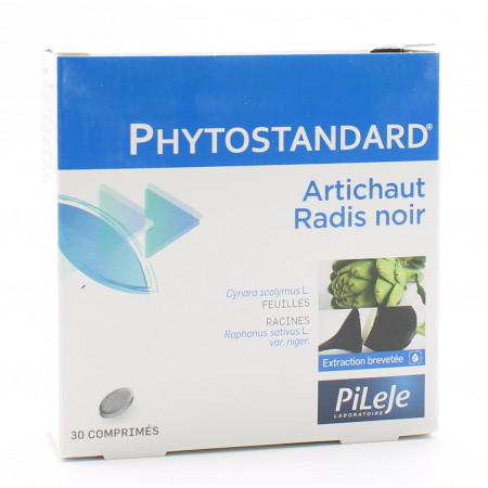 PiLeJe Phytostandard Artichaut / Radis Noir 30 comprimés