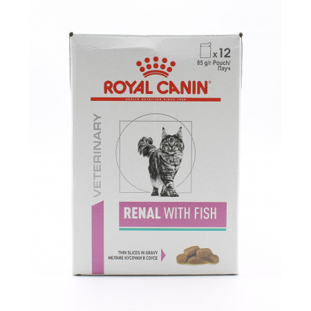 Royal Canin Renal With Fish pour Chat 12X85g