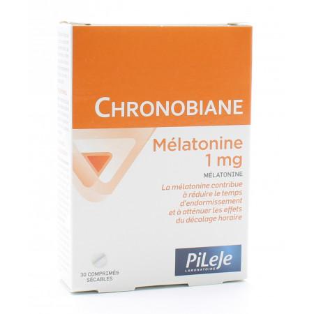 PiLeJe Chronobiane Mélatonine 1mg 30 comprimés