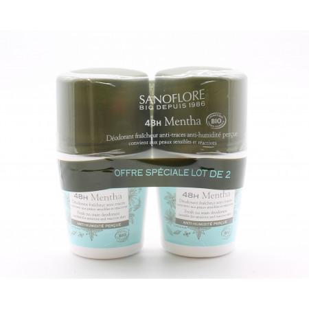 Sanoflore Déodorant Roll-On Mentha 48h 2X50ml