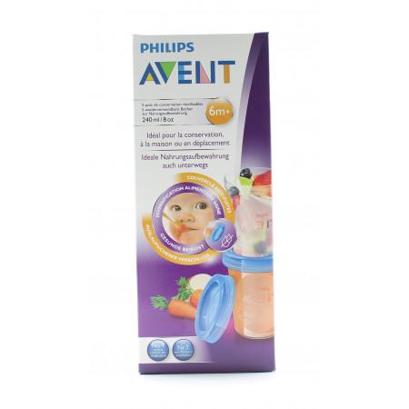 Philips Avent Pots de Conservation 6m+ X5