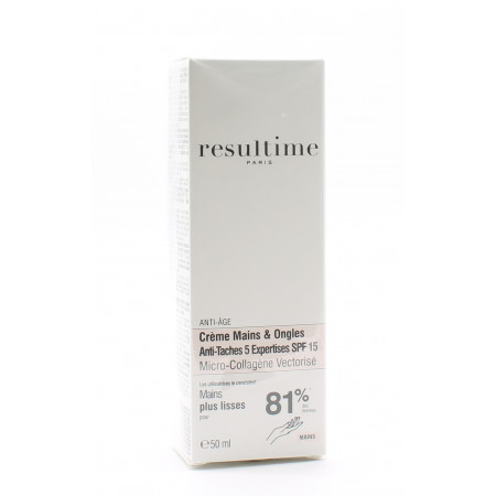Resultime Crème Mains & Ongles Anti-Tâche 5 Expertises SPF15 50ml