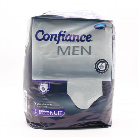 Confiance Men Sous-vêtements Absorbants Taille L Niveau 6 Nuit X7