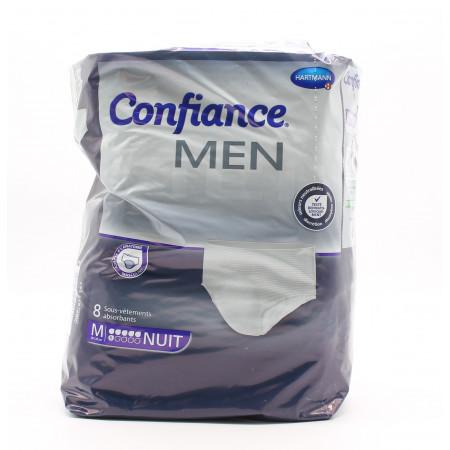 Confiance Men Sous-vêtements Absorbants Taille M Niveau 6 Nuit X8