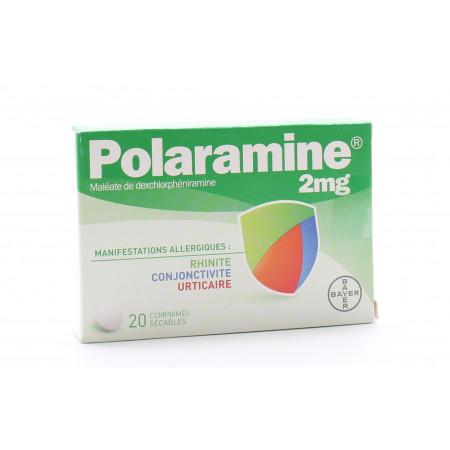 Polaramine 2mg 20 comprimés
