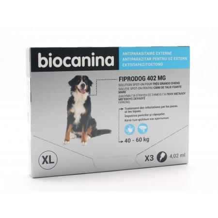 Biocanina Fiprodog 402mg Très Grands Chiens 4,02mlX3
