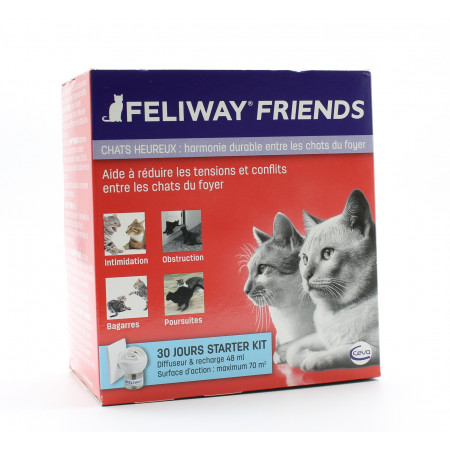 Feliway Friends Chats Heureux Diffuseur et Recharge