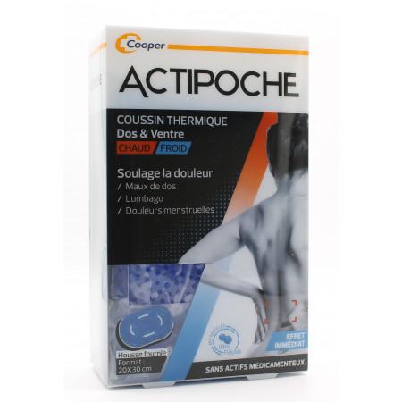 ActiPoche Coussin Thermique Dos&Ventre Chaud/Froid 20X30cm