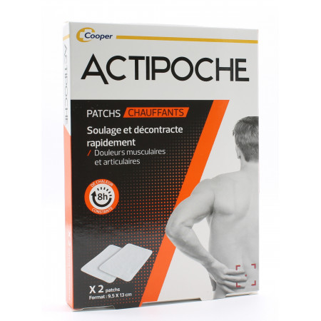 ActiPoche Patchs Chauffants 9,5X13cm X2