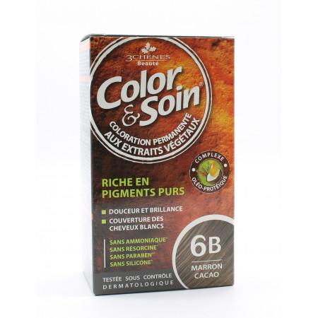 3 Chênes Color&Soin Coloration Permanente 6B Marron Cacao
