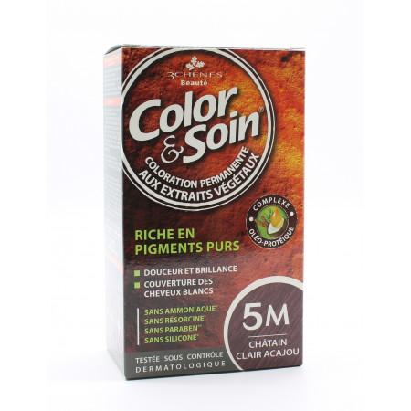 3 Chênes Color&Soin Coloration Permanente 5M Châtain...