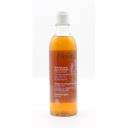 Melvita Shampooing Doux Purifiant Huiles Essentielles de Citron & Romarin Bio 200ml