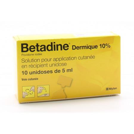 Betadine Dermique 10% Unidose 10X5ml