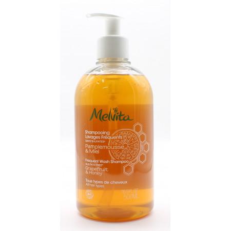 Melvita Shampooing Lavages Fréquents Pamplemousse & Miel Bio 500ml