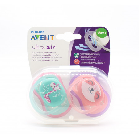 Philips Avent Ultra Air Sucette 18M+ Girafe X2