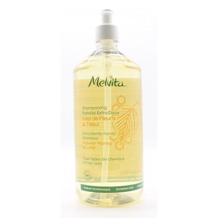 Melvita Shampooing Familial Miel de Fleurs & Tilleul Bio 1L