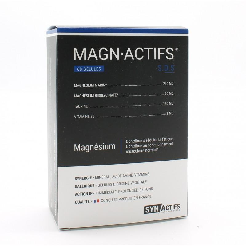Sunactifs Magnactifs Magnésium Marin 60 gélules