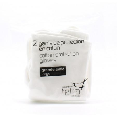 Tetra Gants de Protection en Coton Large X2