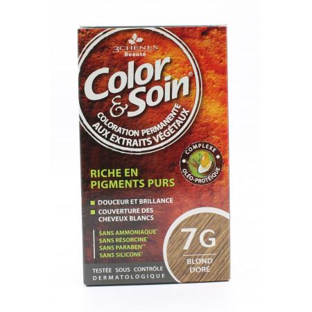 3 Chênes Color&Soin Coloration Permanente 7G Blond Doré