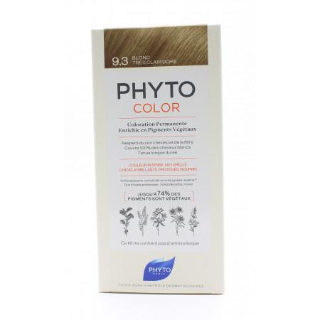 Phyto Color Kit Coloration Permanente 9.3 Blond Très Clair Doré