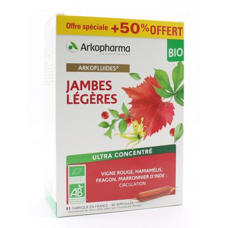 Arkopharma Arkofluides Bio Jambes Légères 30 ampoules