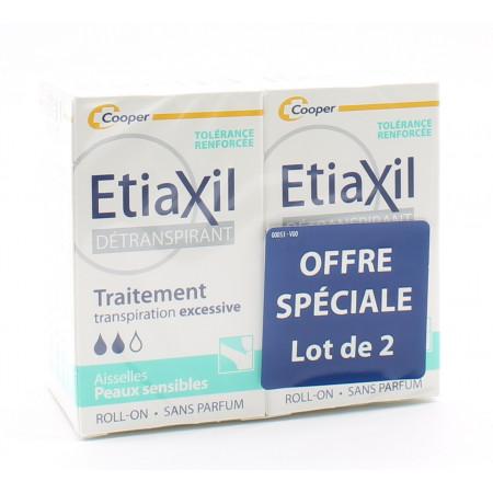 Etiaxil Détranspirant Aisselles Peaux Sensibles 2X15ml