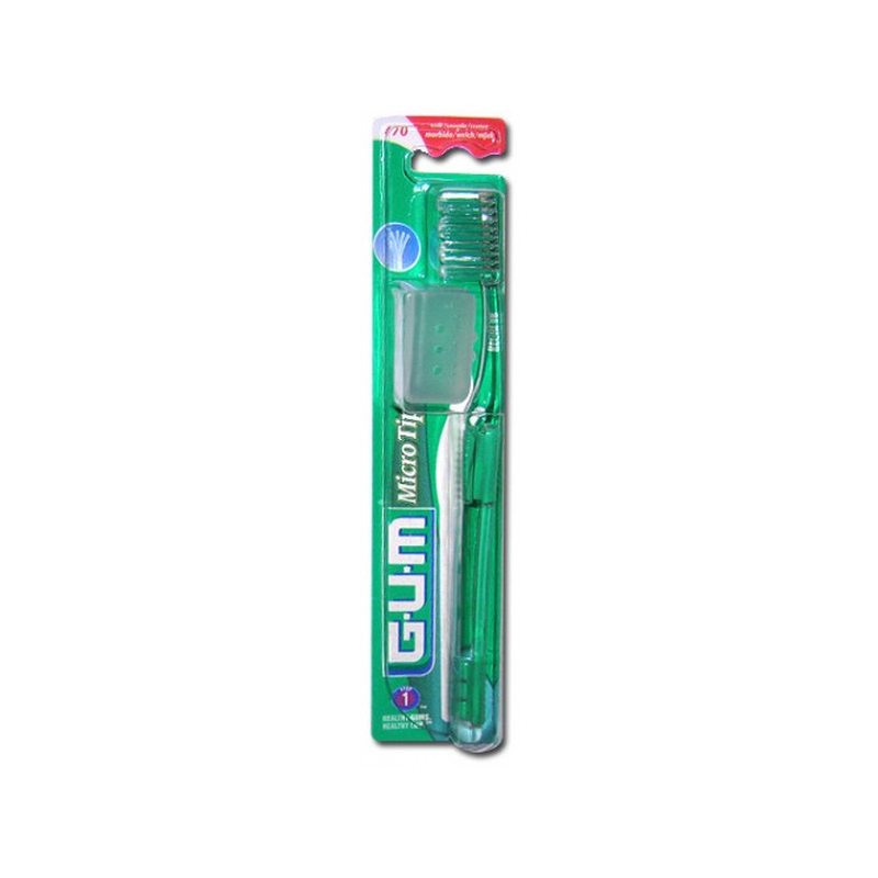 Brosse à Dents Souple GUM MicroTip Regular 470 Sunstar