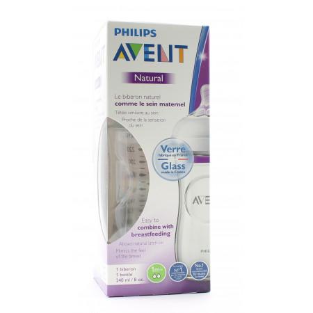Philips Avent Natural Biberon Verre 1M+  240ml