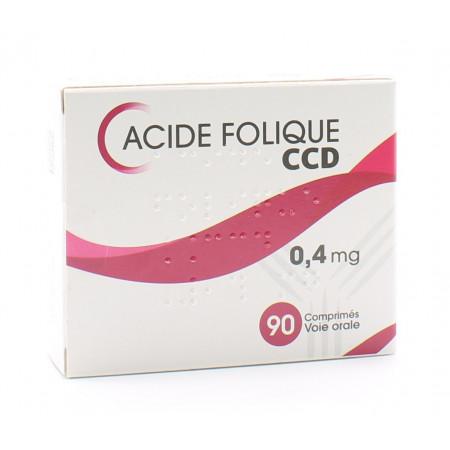 Acide Folique 0,4mg C.C.D 90 comprimés