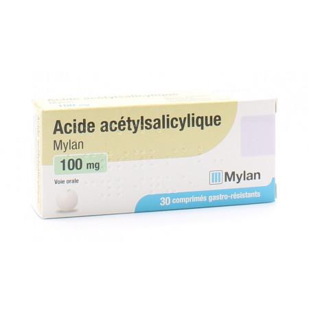 Acide Acétylsalicylique 100mg Mylan 30 comprimés