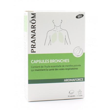 Pranarôm Aromaforce Bio Capsules Bronches X30