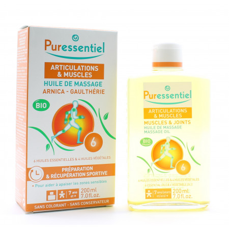 Puressentiel Articulations & Muscles Huile de Massage Bio 200ml