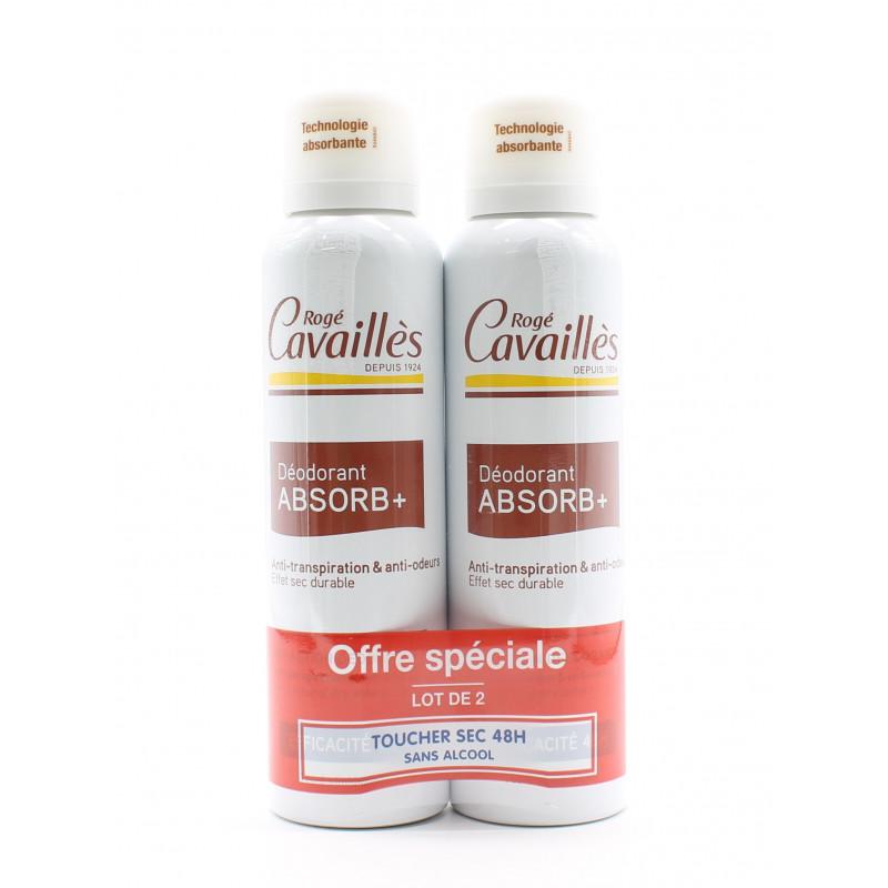 Rogé Cavaillès Déodorant Absorb+ 48h 2X150ml