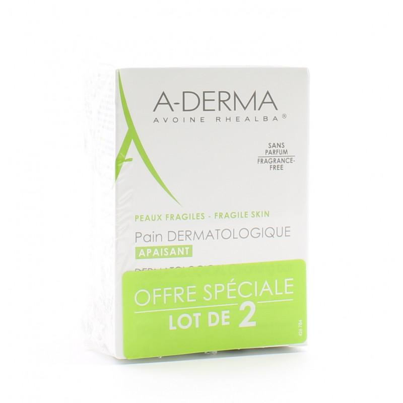 A-Derma Pain Dermatologique Apaisant 2X100g