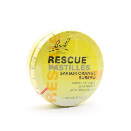 Bach Rescue Pastilles Saveur Orange Sureau 50g - Univers Pharmacie