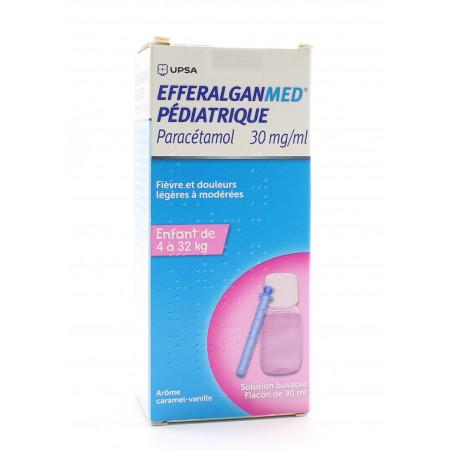 Upsa Efferalganmed Pédiatrique Paracétamol 30mg/ml 90ml