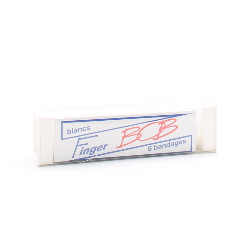 Finger BOB Bandage Doigt Blanc X6 - Univers Pharmacie