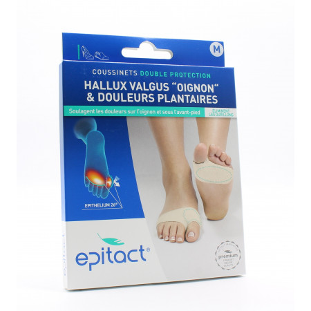 Epitact Coussinets Double Protection Taille M X2 - Univers Pharmacie