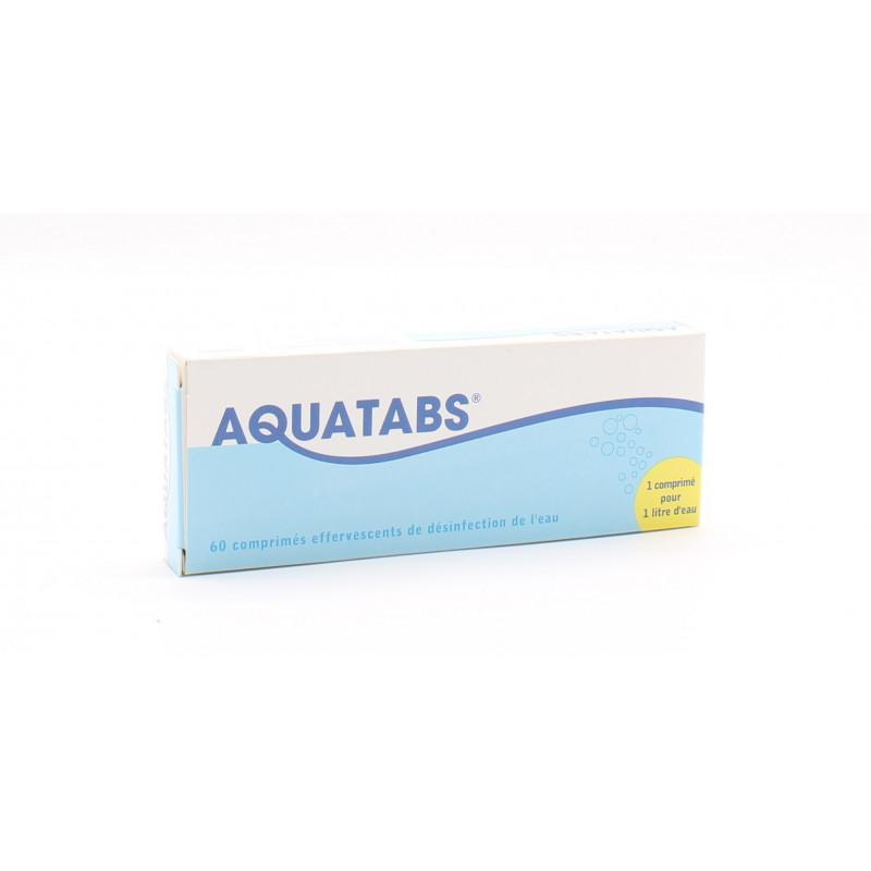 Aquatabs 60 Comprimés Effervescents  - Univers Pharmacie