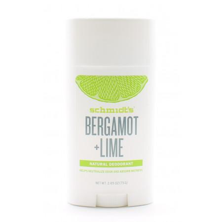 Schmidt's Déodorant Stick Bergamot + Lime 75g - Univers Pharmacie
