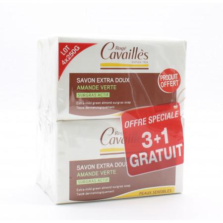 Rogé Cavaillès Savon Extra-doux Amande Verte 4X250g - Univers Pharmacie