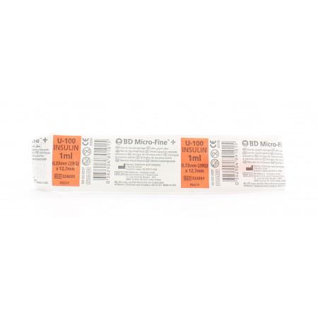 BD Micro-Fine U-100 Insulin 1ml - Univers Pharmacie