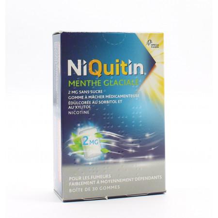 Niquitin Menthe Glaciale 2mg sans sucre 30 gommes - Univers Pharmacie