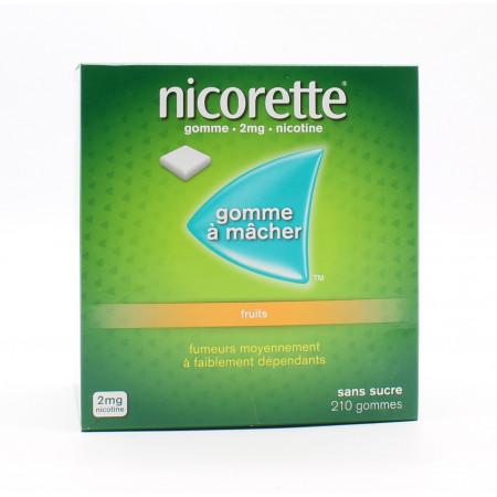 Nicorette 2mg Fruits 210 gommes - Univers Pharmacie