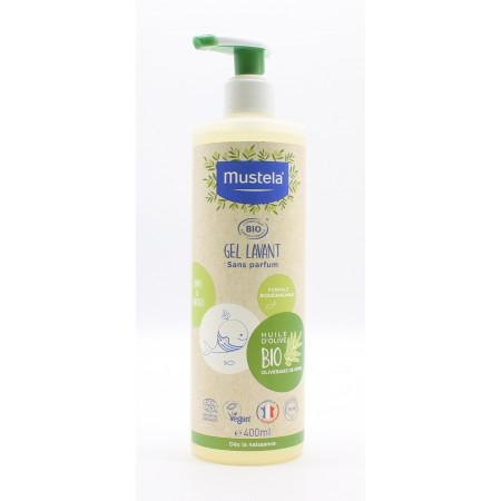 Mustela Gel Lavant Apaisant Huile d'Olive Bio 400ml - Univers Pharmacie