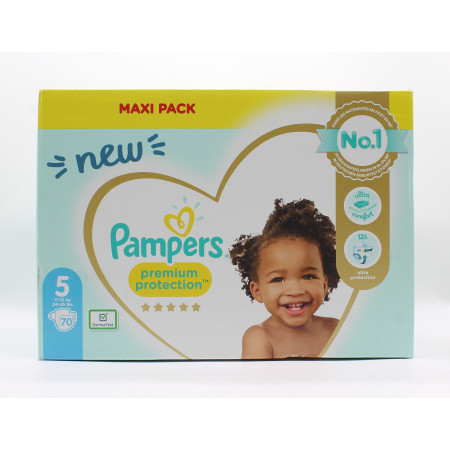 Pampers Premium Protection Taille 5 11-16kg 70 couches - Univers Pharmacie